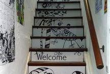 Escaleras angostas