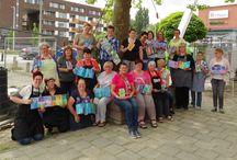 """Workshop 11 juni 2016 - Sprookjesachtig PanPastel / Op 11 juni 2016 werd de workshop """"Sprookjesachtig PanPastel"""" gegeven door Miranda van den Bosch en Saskia Smits."""