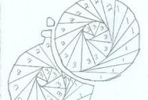 Szablony - iris folding