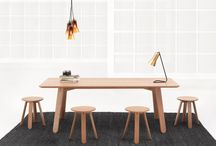 Half Full / Half Full is a solid FSC oak timber collection of products. The central feature of the range is the use of a half turned leg, which gives the tables, benches and stools their unique appearance and playful nature.