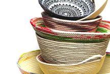mandjes van touw en stof
