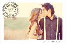 Save the date / Nice prewedding shoot to gather photos for the announcement to inform friends to save the date.