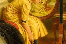 Живопись. Женский образ (За туалетом, перед зеркалом)