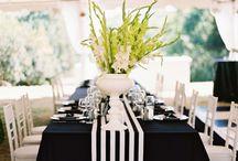 Black&white&green wedding