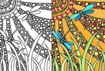 Pencils and Color / drobné kresby v barvě / small drawings in color