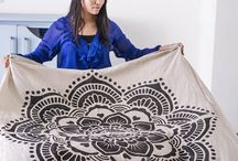 Mandala stencils in your home