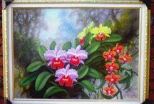 orchids paintings / lukisan w sayid