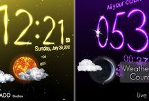Weather Clock & Countdowns Live wallpaper / This 3D Weather Live Wallpaper have awesome weather animations, clock and countdowns, show temperature and weather forecast up to 7 days, can change automatically the background color, show sun or moon and change particles direction on sunset and sunrise events. Also is interactive, and you can tap on clock and countdowns to start great particle light explosions and change between clock and countdowns and slice to rotate the 3D view.