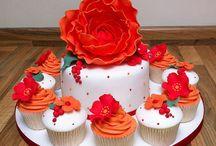 tangerine oarnge (jp)wedding cake ideas / by Heather Brent