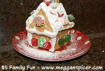 $5 Family Fun - Gingerbread Joy / Enjoy the holiday season by everyone in the family making their own individual gingerbread houses.