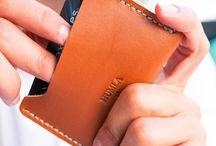 Cardholder/Kartlık / Leather & Wool Felt Handmade Products