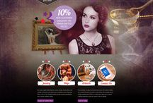 My web designing work / Home pages of different websites created by me......