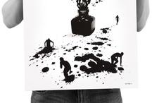 Fullbleed silkscreened prints / by Rob Dobi
