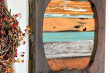 Holidays on Wood / Holiday items made on scrap wood / by Donna Bowman
