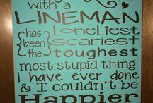 Love my lineman / by Veronica Longoria
