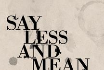 Wise Words & Nice Typography