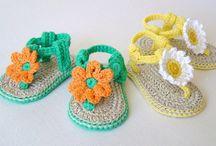 Chrochet flower sandles