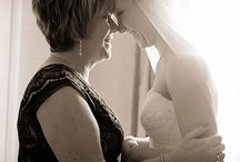 mother and bride at home