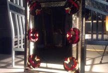 Színes barokk ólomüveg tükör / http://hu.sooscsilla.com/magan-vallalati-olomuveg-ablak-ajto/ http://hu.sooscsilla.com/portfolio/szines-barokk-olomuveg-tukor/