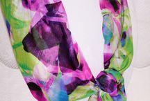 Unique Fashion Accessories / Colorful Handmade Scarves, Handbags, Bag Organizer Inserts