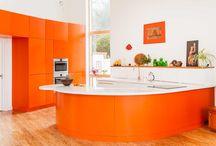 Beautiful Fresh Kitchen With Touch Orange Theme