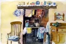 kitchen watercolour