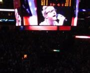Zach Myers singing the National Anthem at the Memphis Grizzlies / Oklahoma Thunder game.