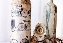 Flaske/vase dekor // Bottle decoration