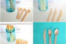 Одноразовая деревянная посуда из эко-материалов