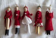 Clothpin dolls