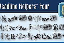 Headline Helpers Four SG™ Font Download