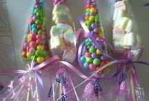 Конусы из конфет
