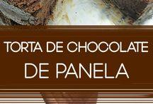 Torta de chocolate de panela