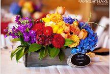 Rainbow / Inspiration for rainbow wedding flowers