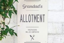 Personalised Garden Gifts / Personalised with your words our range of signs on upcycled wood and nostalgic metal make thoughtful gifts for green fingered friends and family.