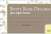 Valentine's Day / Thinking Valentine's Day???? Think about giving the gift of beauty....Betty Ross Decorating Gift Certificates!!!! Available online www.bettyrossdecorating.com - under the Decor Store tab - scroll down to find the denominations available for purchase!