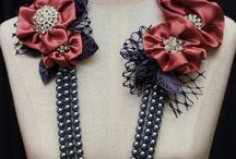 Textile flowers (for head and neck)