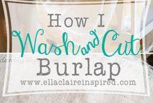 BuRlaP cRuSh / by Patti's Garden Expressions LLC