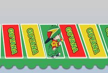 Guyana Product in color flag logo / Welcome to Guyana product in color flag logo