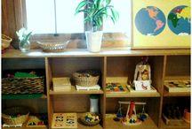 Montessori home rooms
