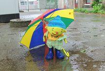 Uk en Puk: regen.