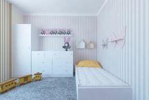 Pokój dziecka, pokój dziewczynki / Pokój dla dziecka, projekt pokoju dla dziewczynki