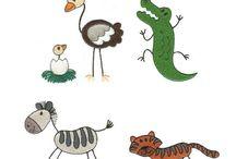 Tegning af dyr