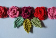 Crochet: flowers, leaves, hearts / Crocheted flowers, leaves, hearts and other little projects...