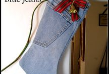 Recycled jeans / Quilts, aprons, stockings and. Ore from jeans