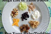 infant/toddler finger foods