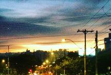 Porto Alegre -amanhecer / Amanhecer em Porto Alegre no Bairro Higienópolis na Plinio Brasil Milano