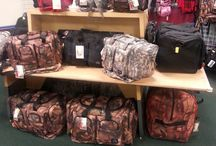 Duffel Bags / All sizes of duffel bags - from small toiletry size bags to mongo size.  In various colors/patterns.