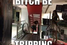 Tripping balls / Trying to climb up on a escalator going down