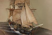 Diorama voilier ancien
